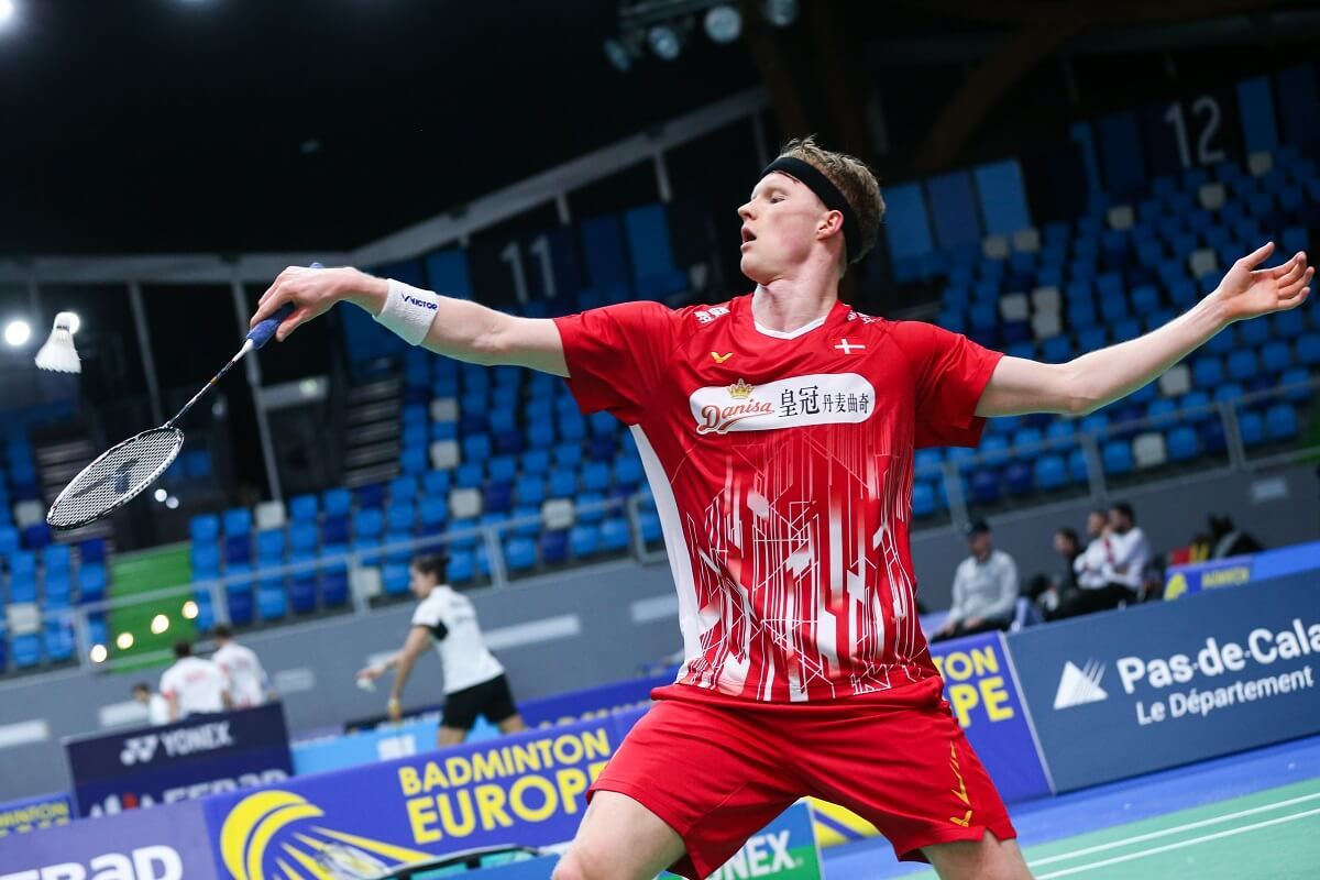 Anders Antonsen - Landshold - VICTOR - Danisa - Mille - EM for herrelandshold - EM for herre- og damelandshold - Badminton Europe
