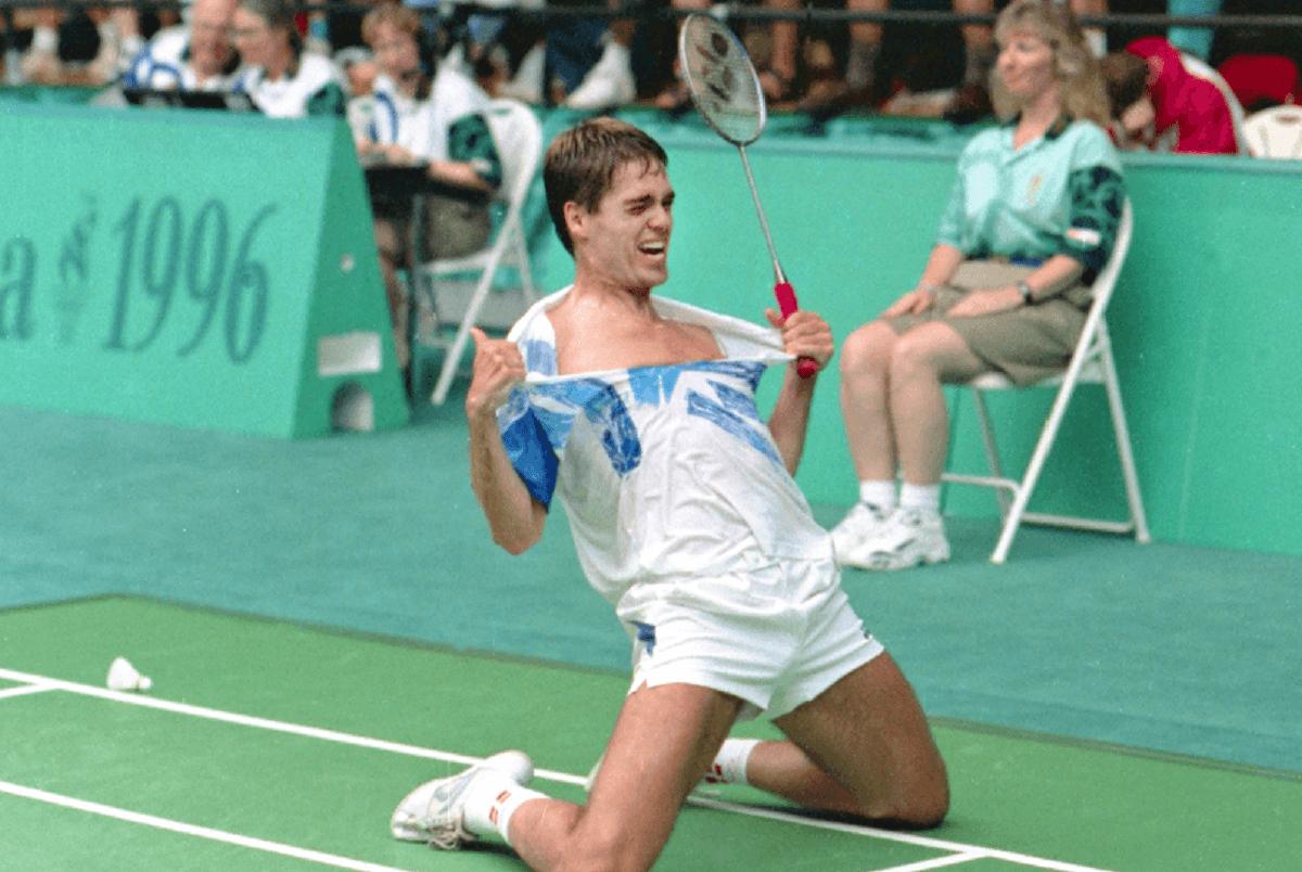 Poul-Erik Høyer - OL - Atlanta 1996 - olympisk mester - jubelscene - semifinale
