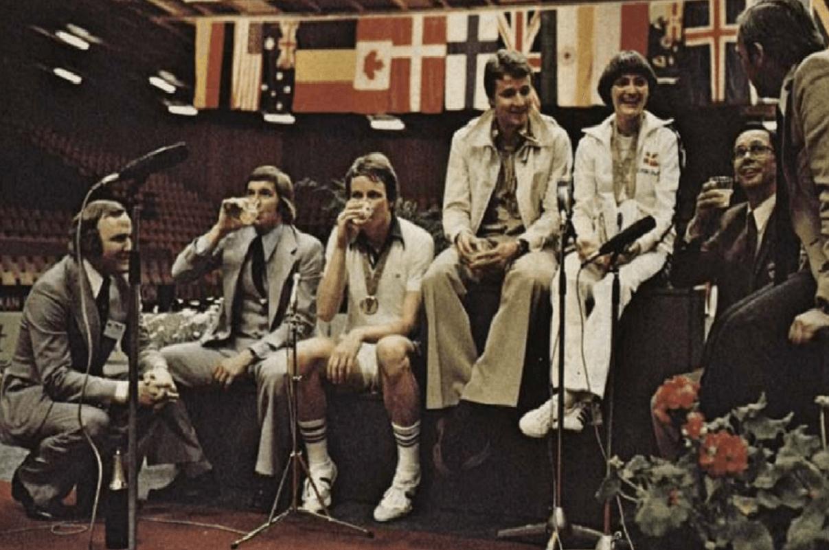 VM 1977 - Verdensmestre - De første officielle verdensmestre - Lene Køppen - Steen Skovgaard - Flemming Delfs