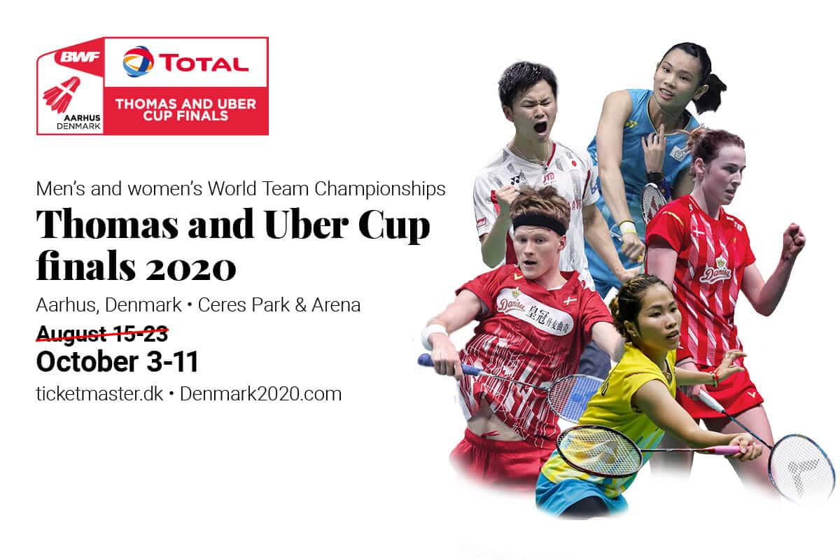 Thomas & Uber Cup - udsættelse - BWF - TOTAL - TUC - Badmintonphoto