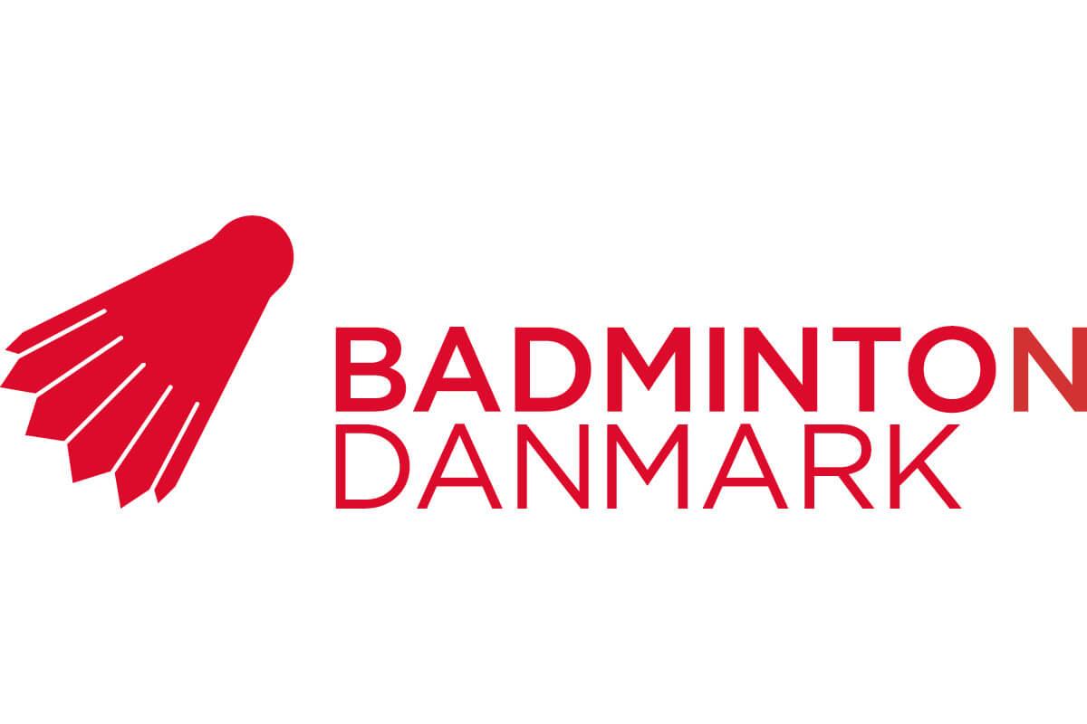 Logo - Badminton Danmark - Logoer - Fjerbold - rød - hvid