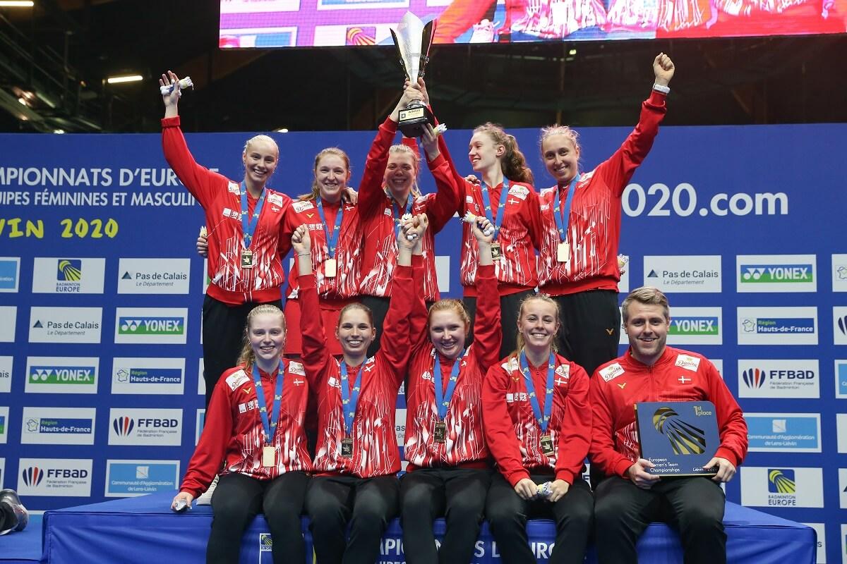 Jesper Hovgaard - EM for damelandshold - EM - Damedouble - Damesingle - Danmark - Glæde - Oplevelser - Pokal - Triumf - Vinder - Europamesterskabet - Badmintonphoto - EM 2020