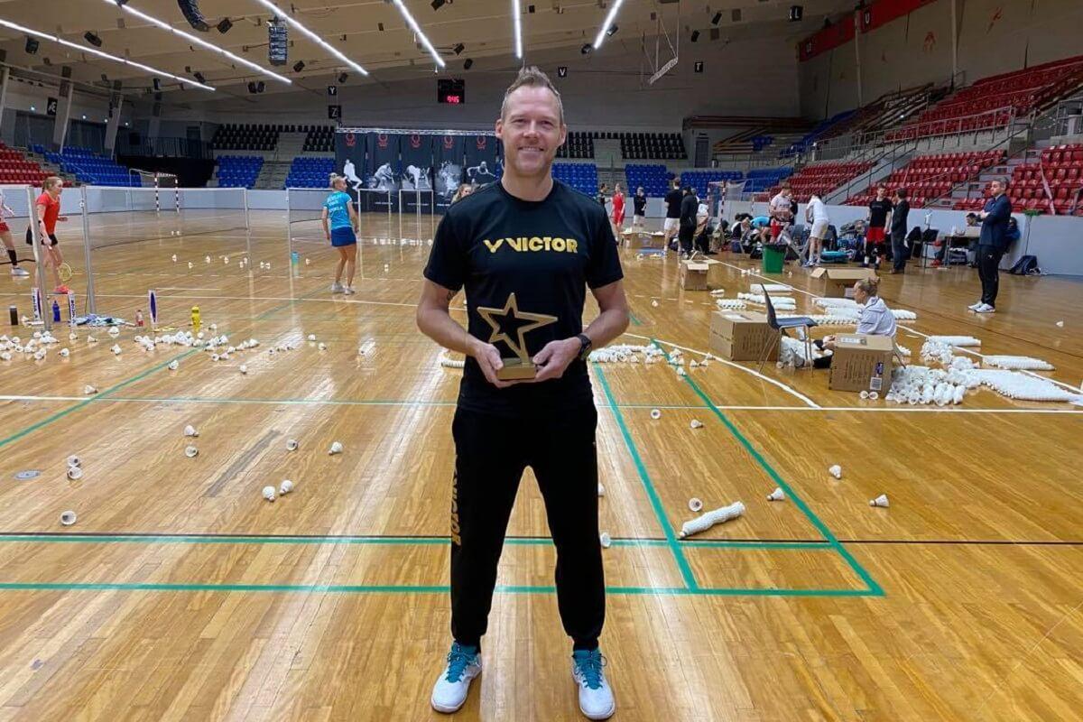 Kenneth Jonassen - VICTOR - træner - Årets Træner - Bedste - Pris - Badminton Danmark