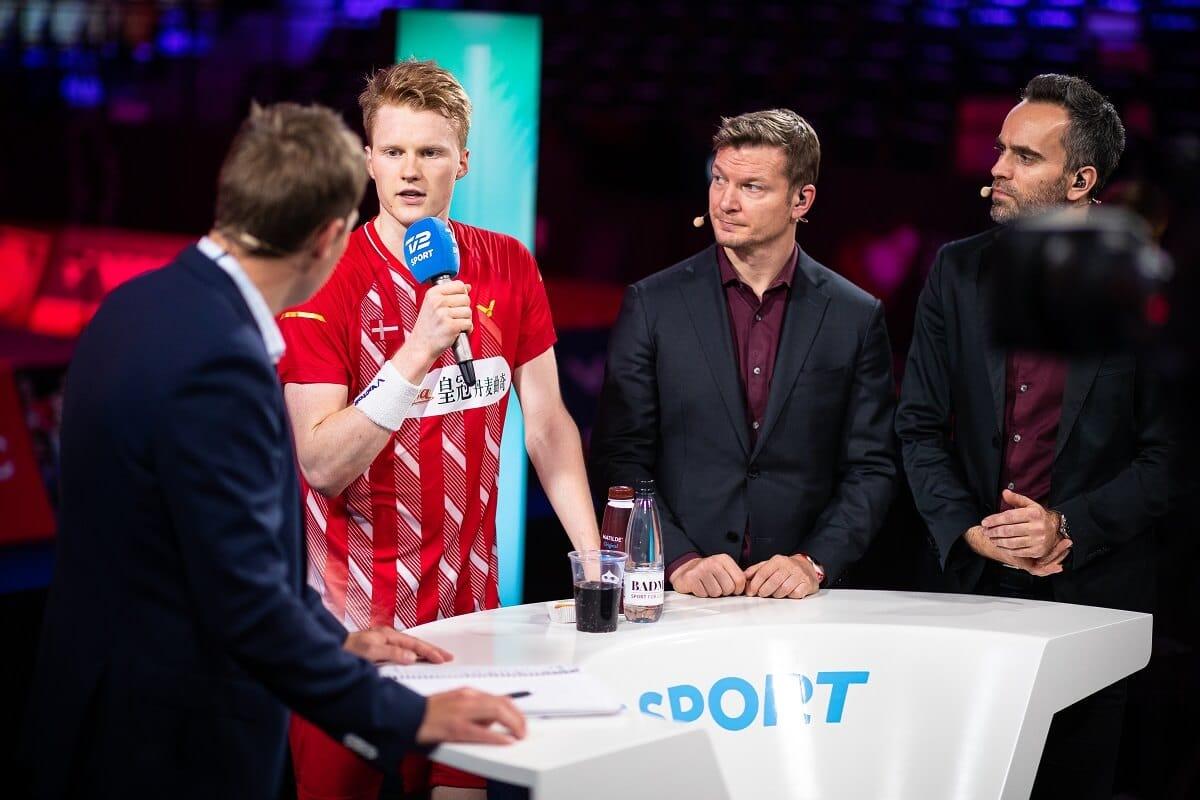 TV 2 SPORT - studie - tv - Jim Laugesen - Joachim Fischer - Morten Ankerdal - Anders Antonsen - Denmark Open - Odense