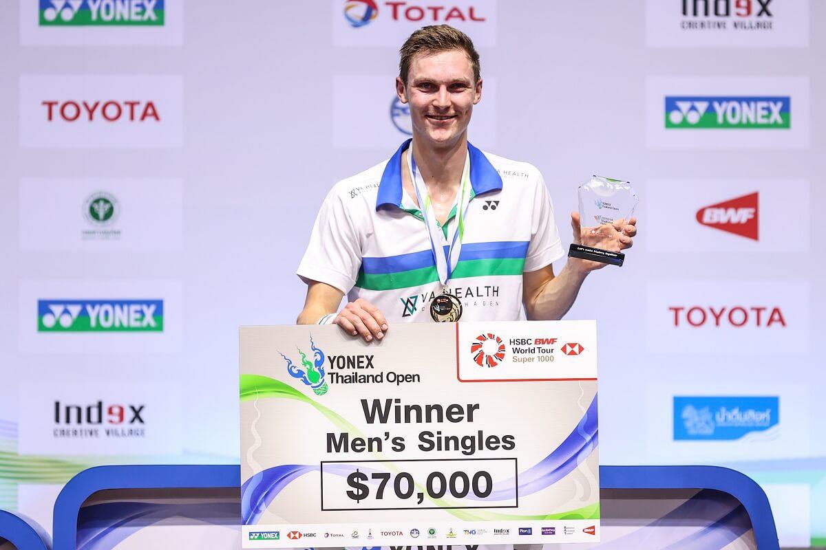 Viktor Axelsen - Glæde - Sejr- Finale - Thailand Open - Præmie - Podie