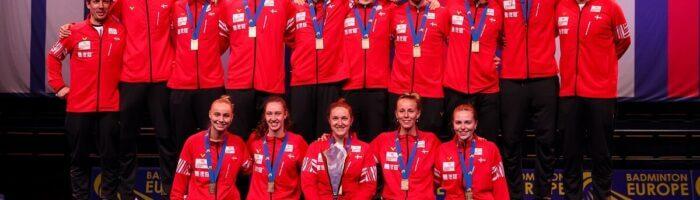 Mia Blichfeldt - glæde - VICTOR - Denmark - Danmark - landshold - EM for blandede hold - Mesterskab - Pokal - guldmedalje - medalje
