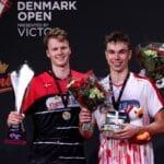 Badmintonphoto - Anders Antonsen - Gemke - præmie - glæde - oplevelse - sejr - medaljer - trofæ - Denmark Open 2020