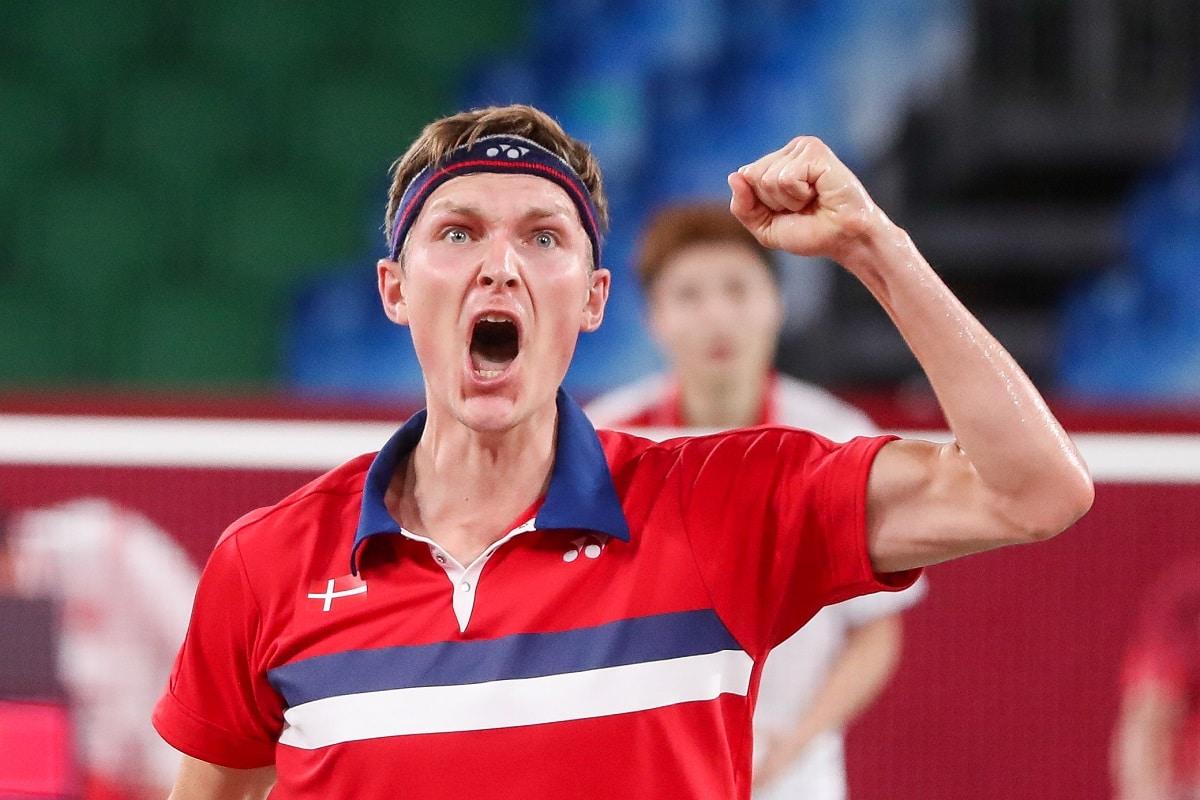 Badmintonphoto - Viktor Axelsen - Glæde - OL - Olympics - Tokyo 2020 - 2021 - styrke