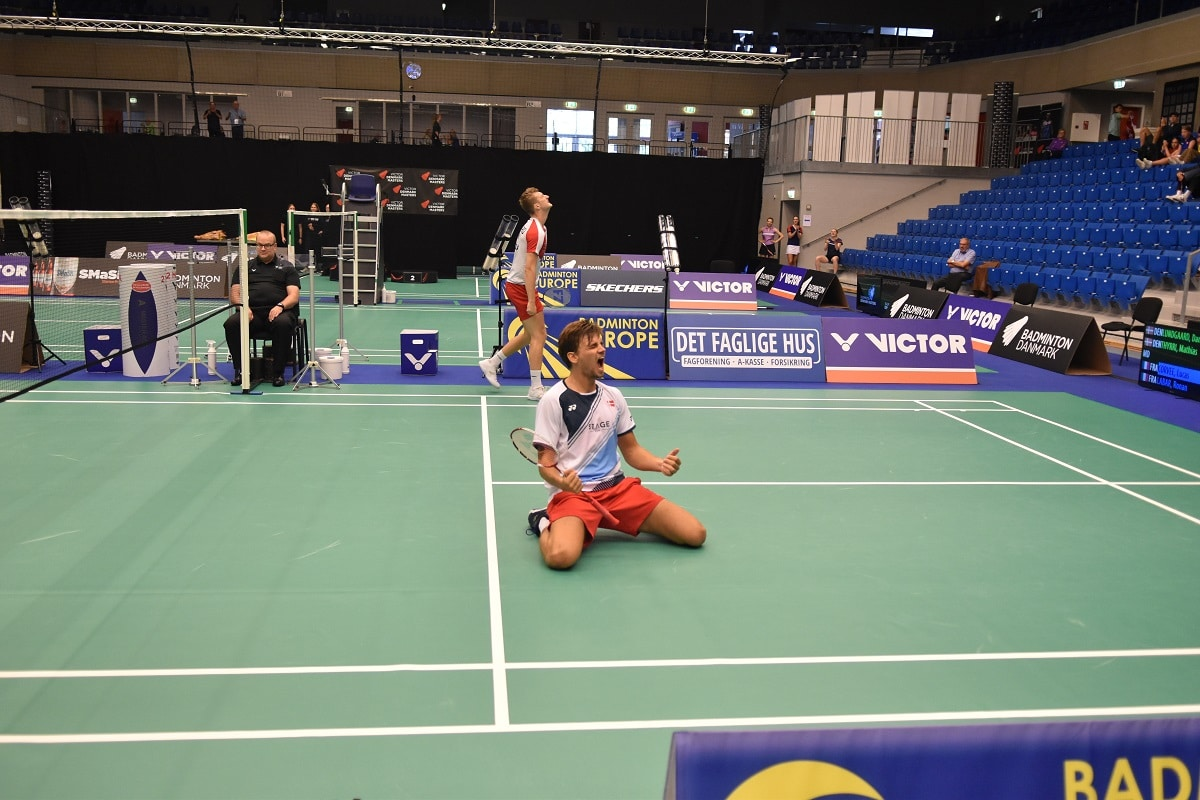 Daniel Lundgaard -Mathias Thyrri - Preben Dan - VICTOR DENMARK MASTERS - Glæde - finale - Badminton Europe