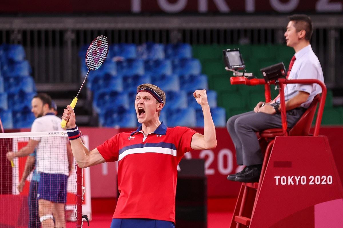 Badmintonphoto - OL - Olympics - Viktor Axelsen - Glæde